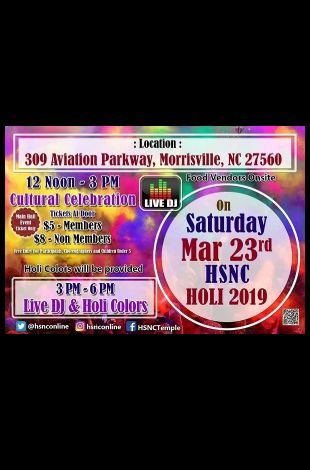 Holi Colors and Cultural Celebration with Live DJ