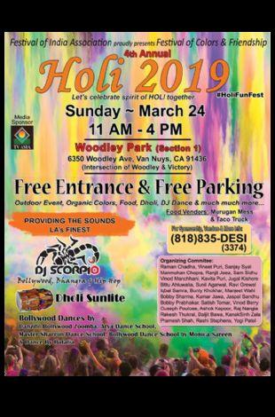 Holi 2019 - Festival of Colors & Friendship