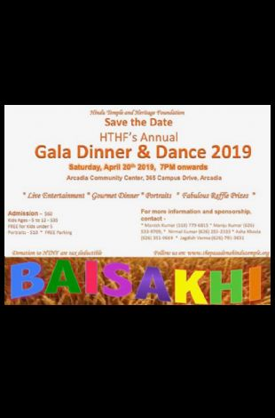 Pasadena HINDU Temple Annual Gala Dinner & Dance 2019