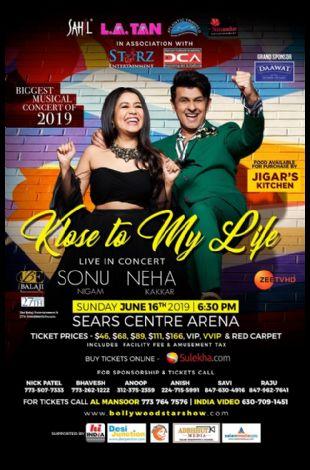 Sonu Nigam with Neha Kakkar Live in Concert 2019 Chicago