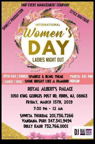 Ladies Night out Celebrating International women's Day!