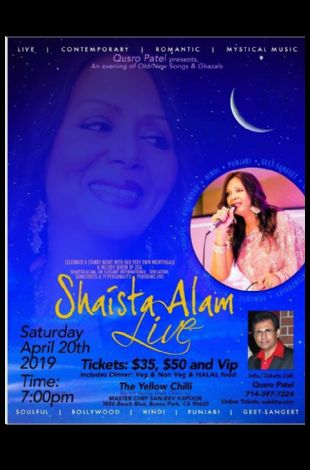 Shaista Alam Live in Concert 2019 - Los Angeles