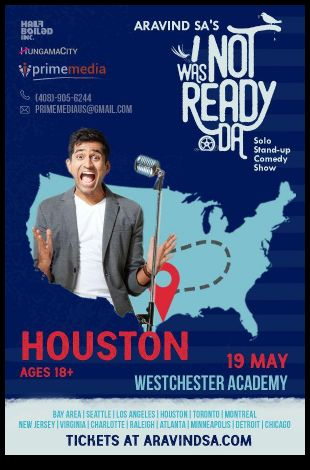 Aravind SA Stand-Up Comedy Live in Houston