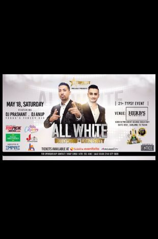 ALL WHITE Latin and Bollywood Night