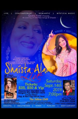 Shaista Alam Live in Concert 2019