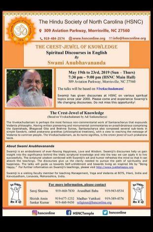 Spiritual Discourses By Swami Anubhavananda ji in English