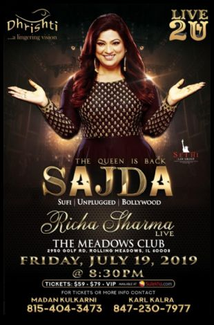 Richa Sharma Live In Concert - Chicago