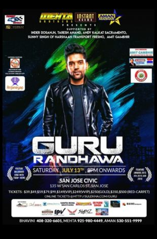 Guru Randhawa Live In Concert - Bay Area
