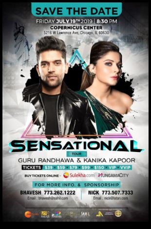 Guru Randhawa & Kanika Kapoor Live concert in Chicago