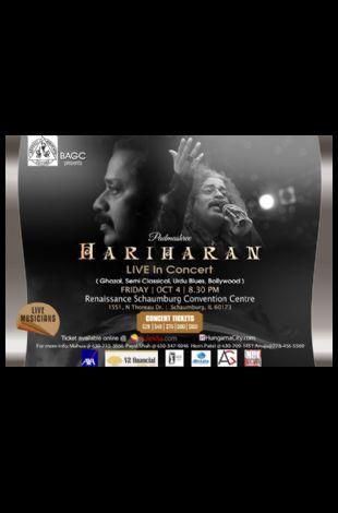 Hariharan Live In Concert in Chicago