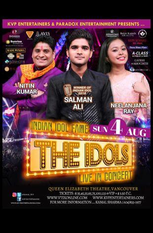 Indian Idols Salman Alvi, Nitin Kumar and Neelanjana Ray Live in Concert