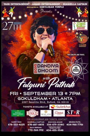 Falguni Pathak Dandiya 2019 in Atlanta