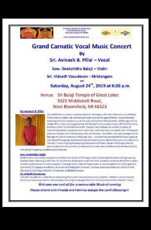 Grand Carnatic Vocal Music Concert