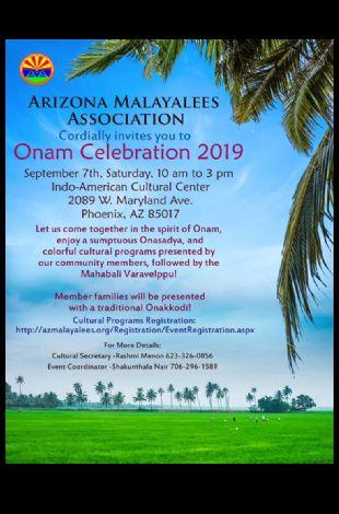 Arizona Malayalees Thiru Onam 2019