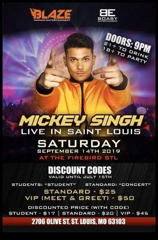 Mickey Singh Live In STL