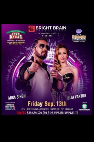 Mika Singh Live with Iulia Vantur - A Bollywood Concert in Bay Area