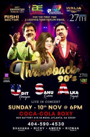 Throwback 90's With Udit Narayan,Alka Yagnik and Kumar Sanu Live In Atlanta