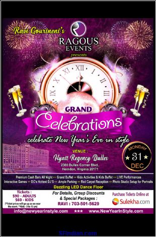 Celebrations 2019 - A Grand New Year's Eve Event